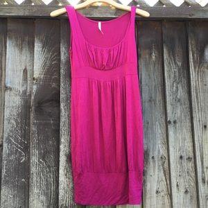 Hot pink stretchy dress